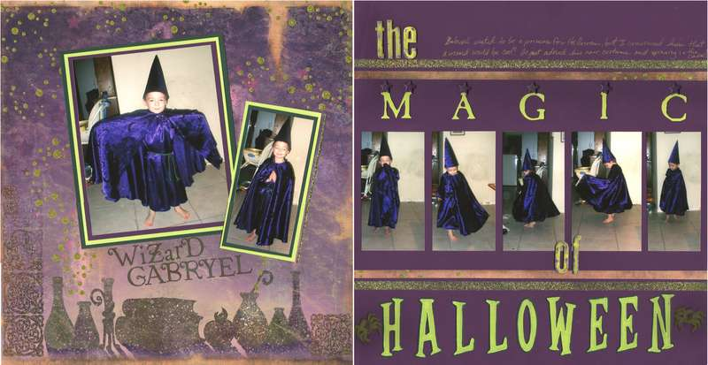 Wizard Gabryel & the MAGIC of HALLOWEEN - (both pages)