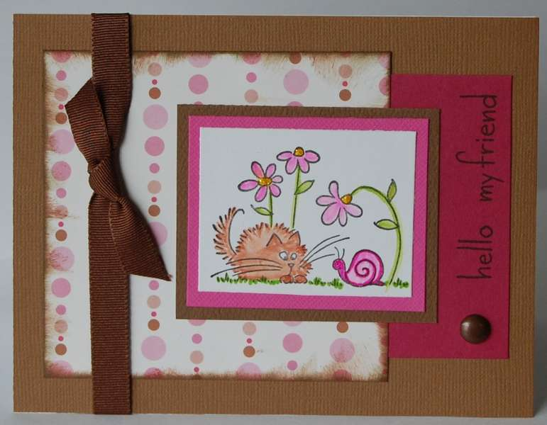 Snail Fluffles - Pink & brown
