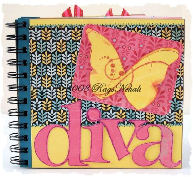 Diva 6 x 6 Chipboard Mini Album