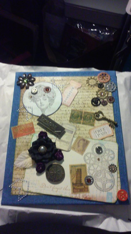 Altered Canvas sent to Flaker Getting Crafty