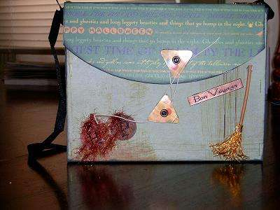 Altered Purse for the Accordian Card for going away card