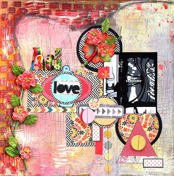 Ad love **Scraps of Darkness **August kit Jamaican Sunset