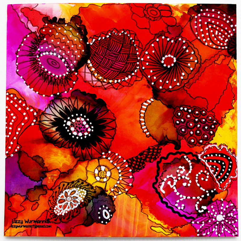 Alcohol ink panel