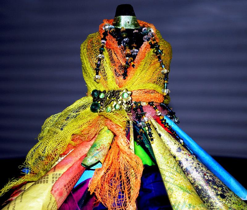 Mixed Media Dress Form