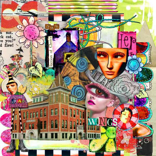 Funky collage