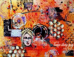 October color challenge at Lindy's Stamp Gang