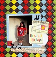 1st Day 7th Grade