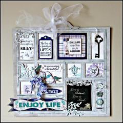 Altered Chipboard Tray Decor *Quick Quotes*