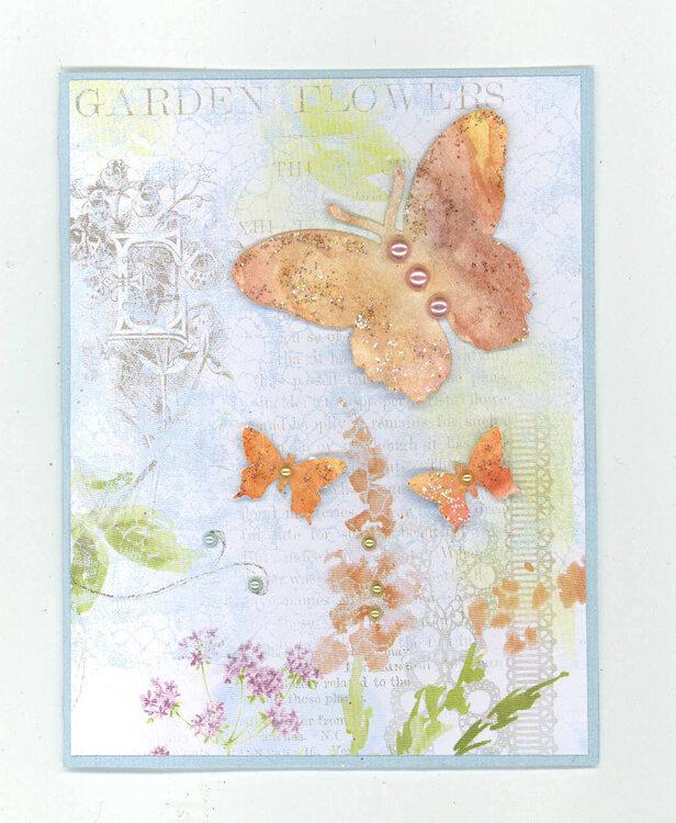 Watercolor challenge card