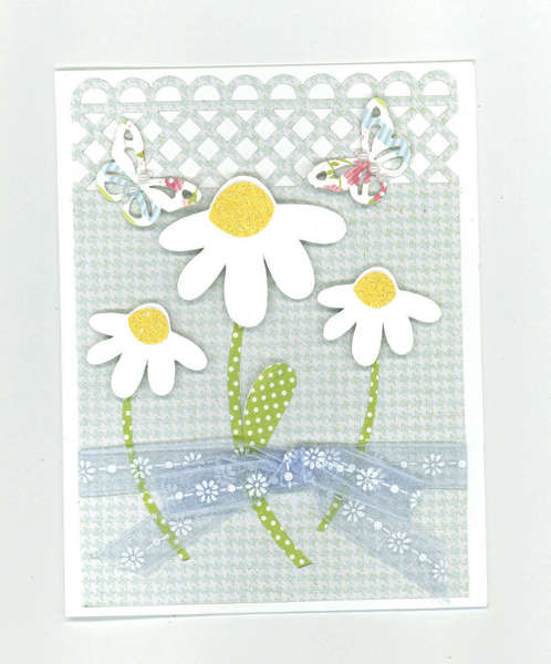 flower and butterfly card