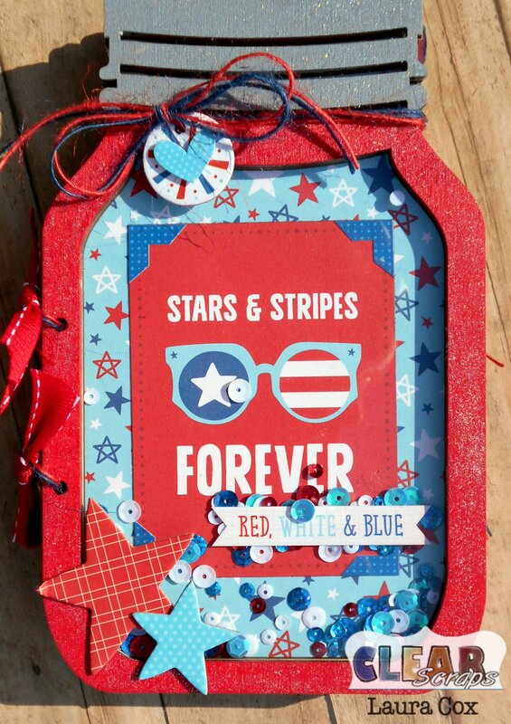 Stars and Stripes Mason Jar Album