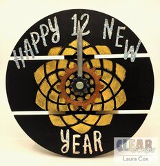 Happy New Year Clock Home Decor