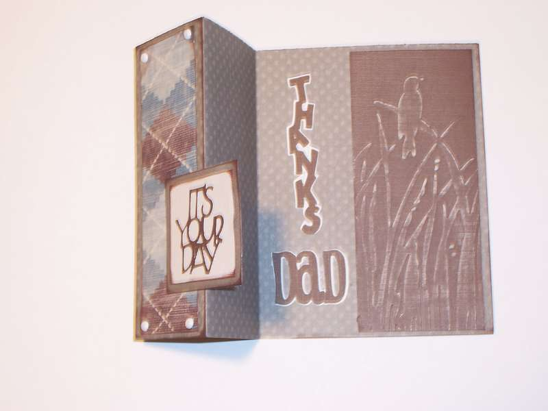 Father's Day card opened