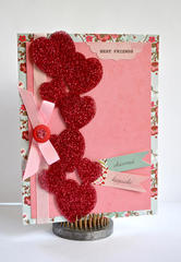 Clear Heart Border Card by Pinky