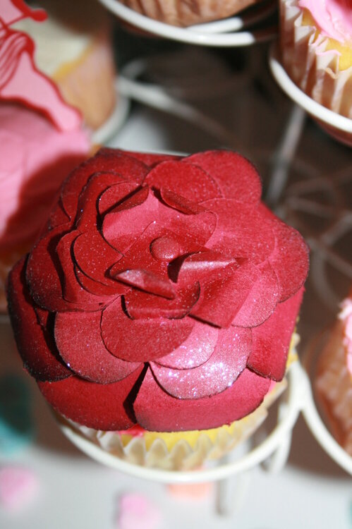 Valentine Rose for a Cupcake