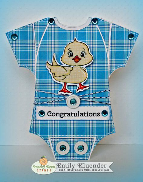 Congratulations: Baby Onesie card