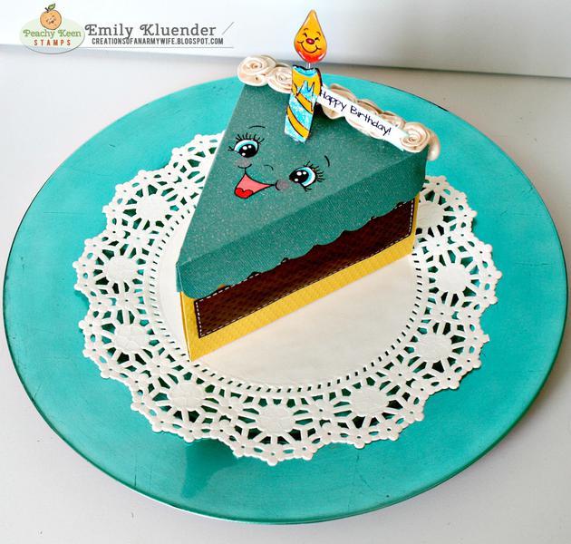 Happy Birthday: Cake Favor Box
