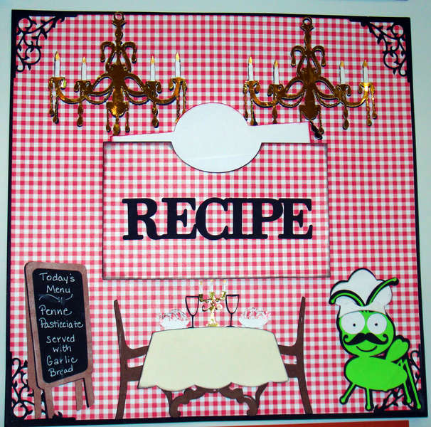 Cricut Recipe Layout