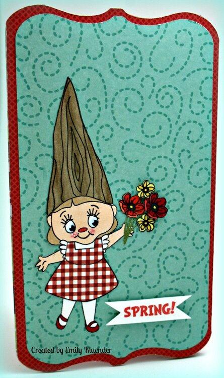 Welcome Spring!:Tri-Fold Window Card