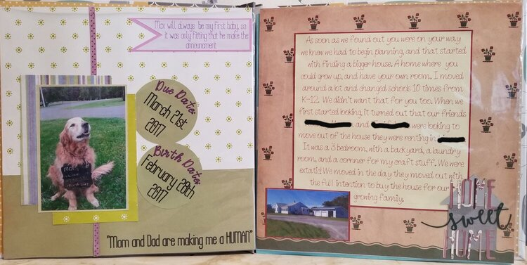 Pages 2 & 3 in my daughters 1st yr book