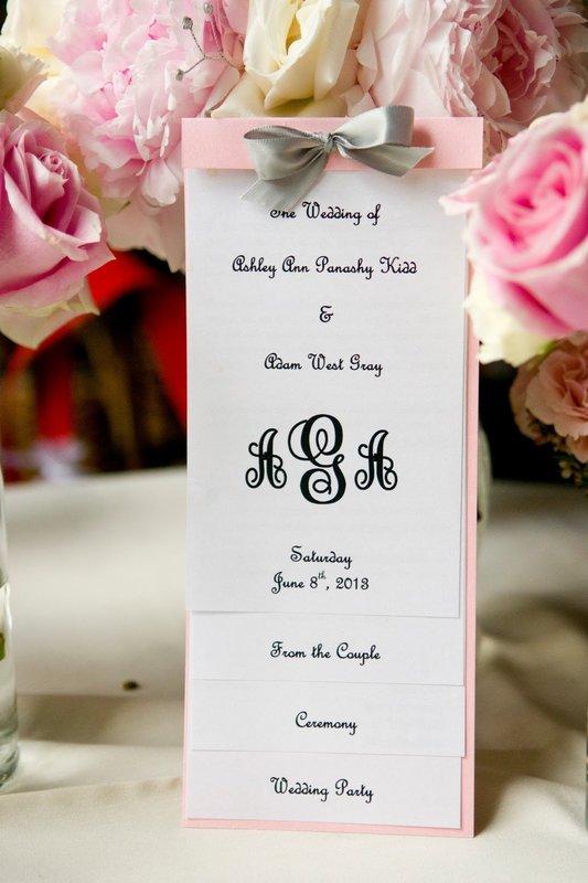 Pink Wedding Program