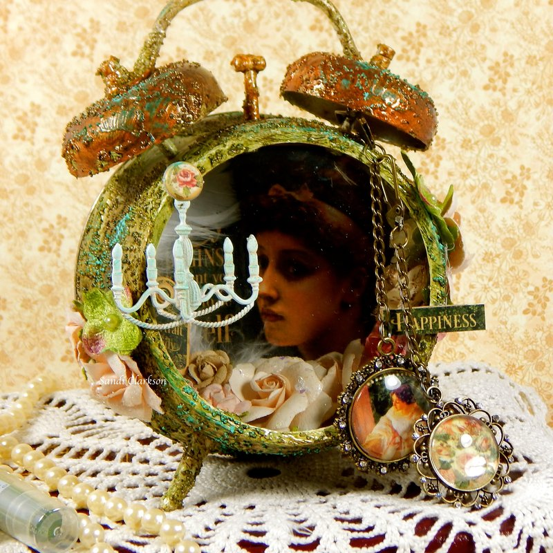 Altered Clock ~ Scraps of Elegance March Kit