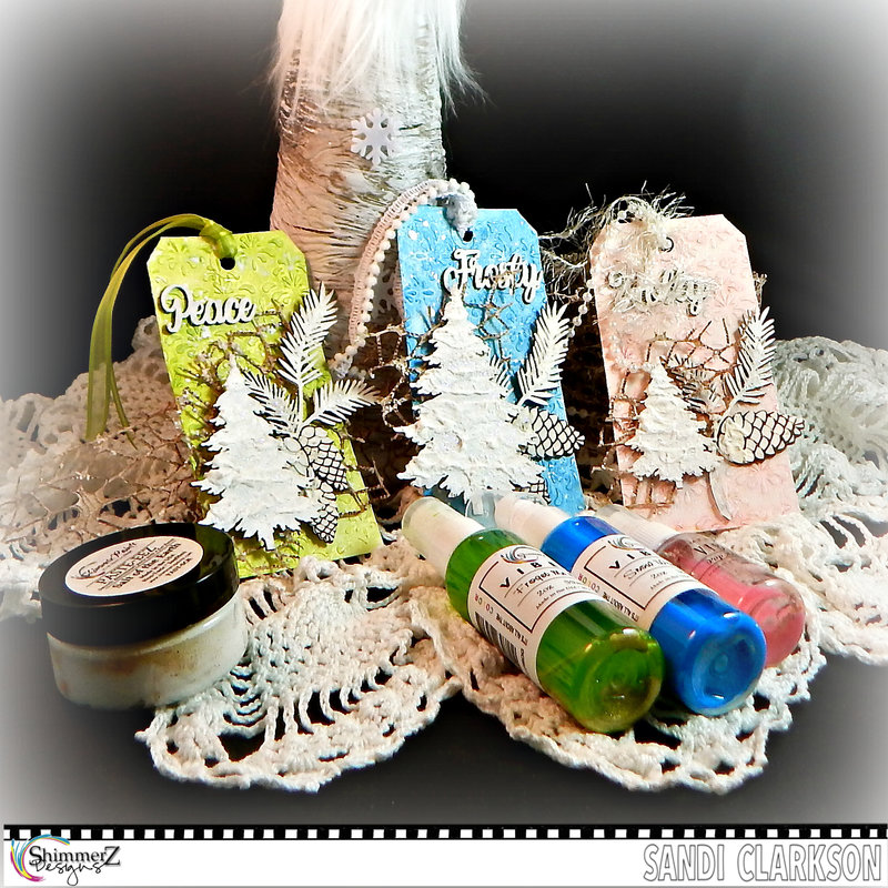 Quick, Fun Christmas tags ~ Shimmerz Paints