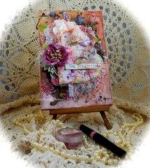 Altered Journal layout ~ Scraps of Elegance April Kit