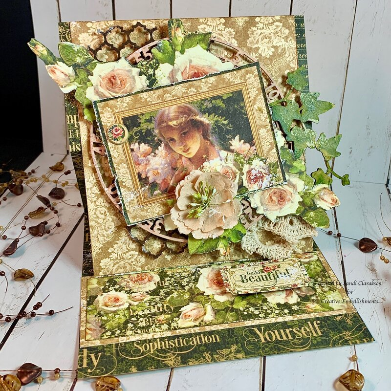 Easel Card ~ Creative Embellishments