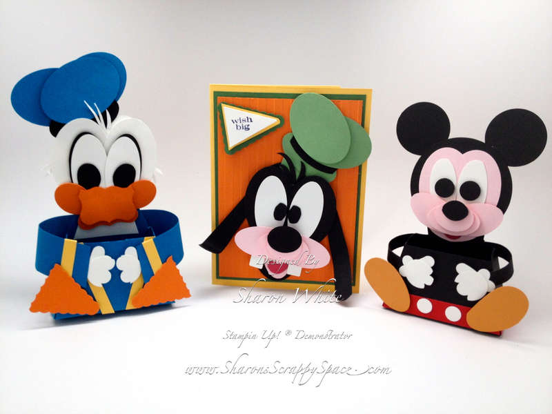 Donald Duck, Goofy and Mickey Mouse Punch Art Treat Holders