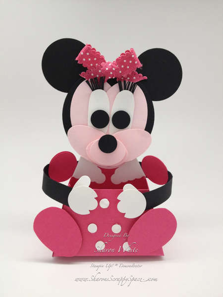 Minnie Mouse Punch Art Treat Holder