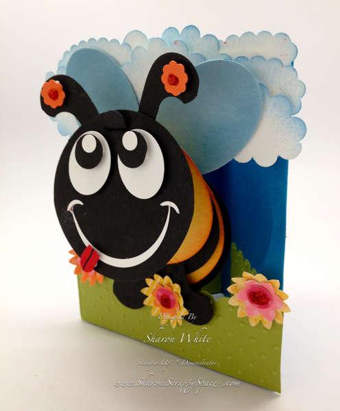 3D Honey Bee Pop Up Card