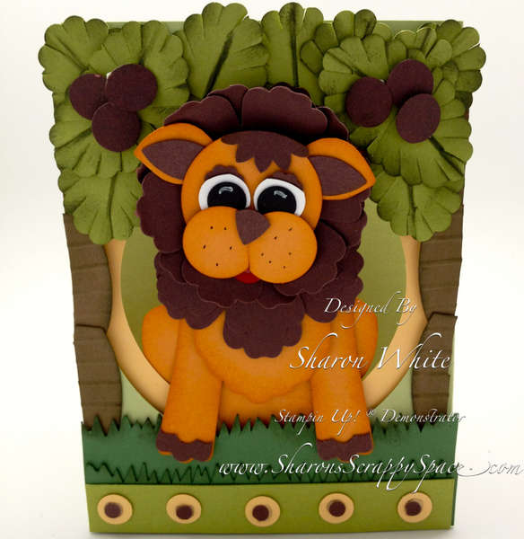 Lion Punch Art Card