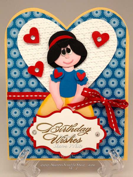 Snow White Punch Art Card