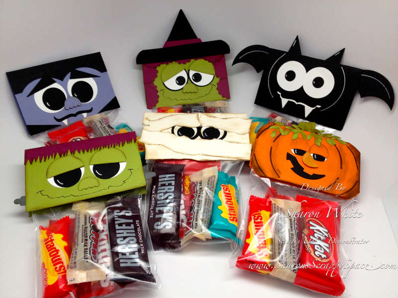 Halloween Punch Art Treat Toppers
