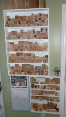 Mounted Stamp Storage shelf