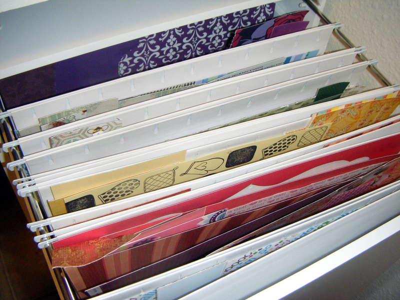 Scrap Paper Organization (in 12x12 Filing Cabinet)