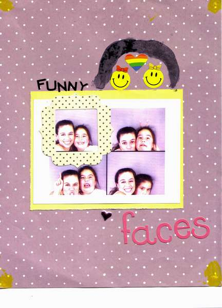 """""""Funny Faces"""" (By Madison - Age 7)"""