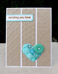 Embossed card - Sending you love
