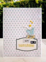 You are my sunshine label card.