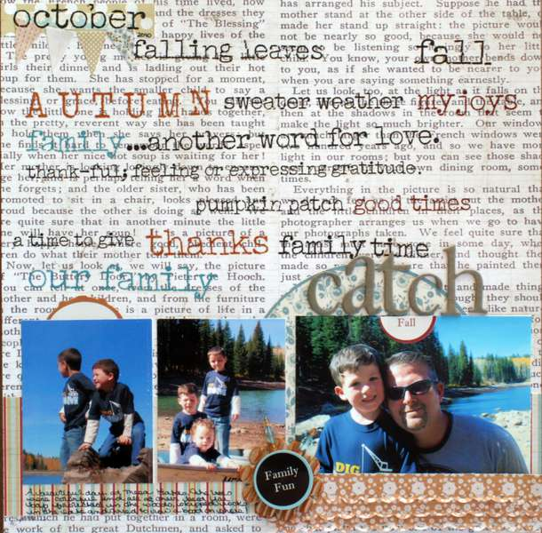 "Catch Fall ""My Scrapbook Nook Oct Kit"""
