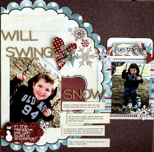 "Will Swing 4 Snow "" My Scrapbook Nook January Kit"""