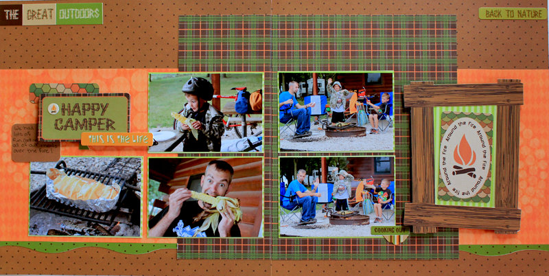 Happy Camper 2 Page Layout