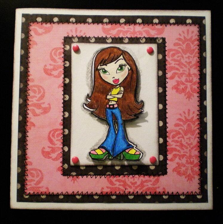 Bratz girl card