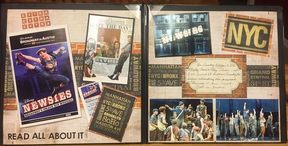 Newsies Musical Layout