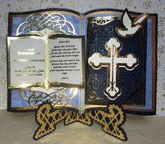 Baptism Christening Bookatrix Card