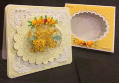 Handmade Spring Bouquet Yarrow Card for Any Occasion