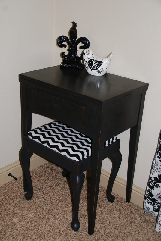 Refurbished Antique Sewing Table