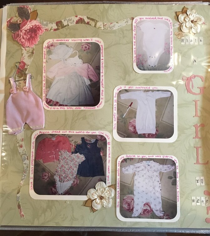Baby Scrapbook - What's a Girl to Wear?