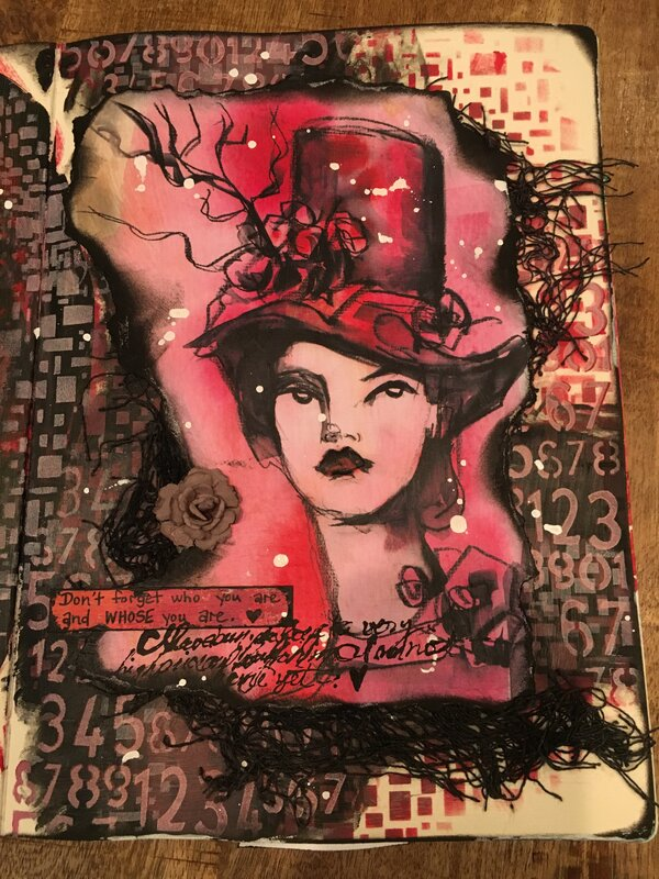Lg Art Journal - Remember Who You Are